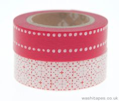 MT Red and White Decorative Masking Tapes