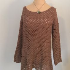 Open Knit Scoop Neck Cotton Sweater Soft and easy to wear over a tank or tee. Great for spring and summer! Old Navy Sweaters Crew & Scoop Necks