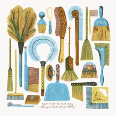 'Brushes' by Alice Pattullo (screen print)