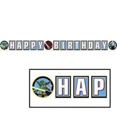 "Lego Star Wars ""Happy Birthday"" Party Banner"