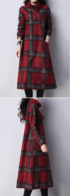 #turtleneck #plaid #red #dress #dresses #winter #fall #christmas #christmasgifts