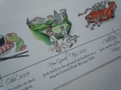 Save the Date - Hand Drawn Time Line (printed or digital file). $3.00, via Etsy.