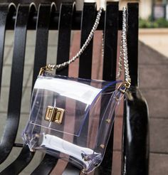 Perfect for stadiums or other venues that require small see-through bags for security. Stunning Clear Purse  Be Clearly in Another by MilouHandbags, $49.00