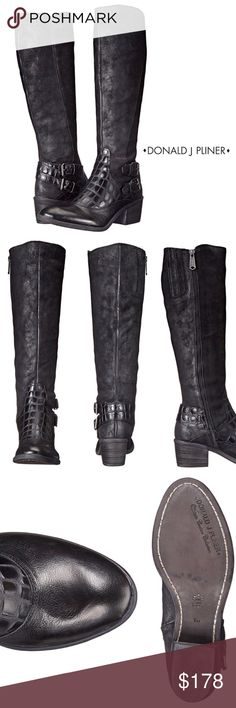 """LOOK! REVERSE CALF LEATHER RIDING BOOT Ride in style, these mixed-media riding boots will add a fancy chic look to your day! The double-buckle detail and combination of rich texture gives the DULCE its unique look. Leather lining offers comfort/Reverse calf leather upper with inside zipper/Croc embossed vamp details/ 15""""shaft height/ 2"""" stacked heel/ 15"""" calf circumference  Worn once EUC-Photos 4-7 are of actual boots  Bundle Discount ^ No Trades ^ Offers Considered ^ Have a question? Please…"""