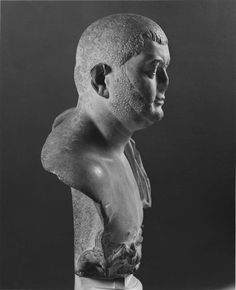 Marble bust of Balbinus (?). Roman. Late Imperial Period, c. 238 A.D. Reworked from a portrait from the early 2nd century A.D. | Museum of Fine Arts, Boston