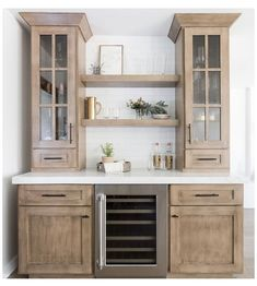 Coffee Bars In Kitchen, New Kitchen, Kitchen Decor, Kitchen Ideas, Kitchen Cabinet Interior, Kitchen Cabinets, Home Renovation, Home Remodeling, Kitchen Remodeling