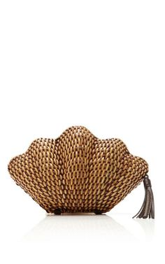 Sandy Straw Lacquered Clutch