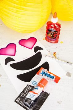 Emoji Party Lanterns Tutorial and Free Printables - Frog Prince Paperie