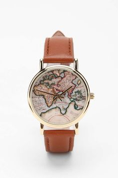 Around The World Leather Watch Wear it as a daily reminder to pray for missions.