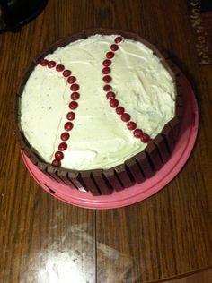 The cake I made for my baseball playing boyfriend's birthday ⚾️