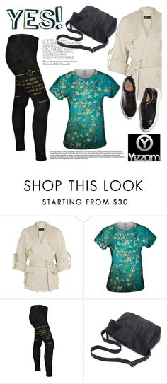 """Yes! Yizzam t-shirts and more!"" by helenevlacho ❤ liked on Polyvore featuring Balmain and Eytys"
