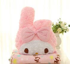 Multifunction Dual-use Plush Doll Hello Kitty Pillow Air Condition Blanket Sleep Cover Cushion Quilt Bedding Car Seat Back Rest