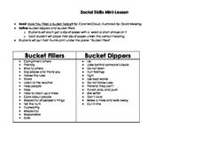 have you filled a bucket today activities | Have You Filled a Bucket Today? Anchor Chart