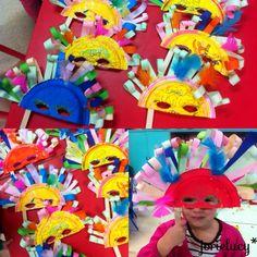 Masque pour Carnaval - assiette en carton