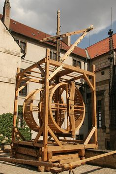 The Water Wheel at Prague Castle reconstruction.