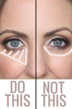 how to apply highlighting concealer under the eyes: