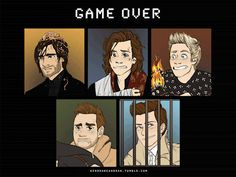 Night changes, game over, art,