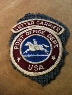 1960's USA Post Office Dept Vintage Obsolete Letter Carrier Arm Patch Set