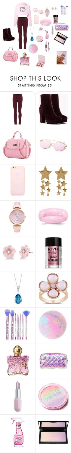 """""""Bez naslova #76"""" by hilda-vi ❤ liked on Polyvore featuring Hello Kitty, Yeezy by Kanye West, WithChic, Irene Neuwirth, NYX, EWA, Miadora, Anna Sui, Charlotte Russe and Winky Lux"""