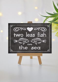 Instant 'two less fish in the sea' Printable 8x10 by JoJoMiMi