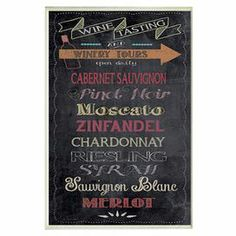 """Featuring a wine-inspired typographic motif, this artfully hand-finished wall decor is the perfect finishing touch to your kitchen or dining room.  Product: Wall decor Construction Material: Engineered wood  Features:  Ready to hangMade in the USAHand-finished Dimensions: 15"""" H x 10"""" W"""