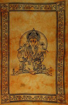 Tenture coton Ganesh tissé main à Pushkar