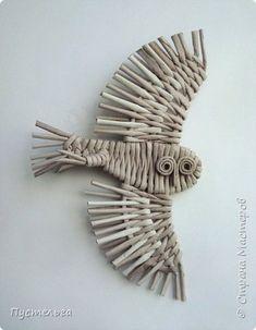 Paper Weaving, Wire Art, Macrame, Paper Crafts, Baskets, Birds, Christmas, Newspaper, Manualidades