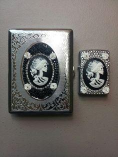Cigarette case & zippo lighter set