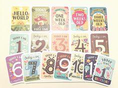 3-in-1 Gift Set - Baby Milestone Memory Cards in Keepsake Box with Infographic Chart. www.mushymoments.com www.yummymummystyleblogger.com