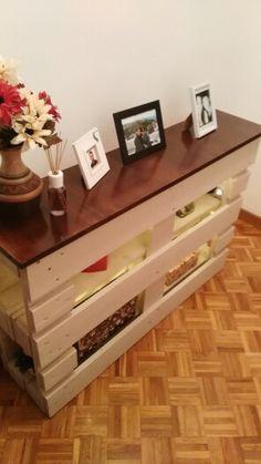 Mueble recibidor hecho con un palet muebles pinterest - Palet reciclado muebles ...