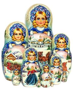GreatRussianGifts.com - Troyka Nesting Doll 10 Piece Set, $1,189.95 (http://www.greatrussiangifts.com/troyka-nesting-doll-10-piece-set/)