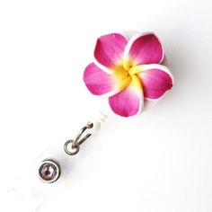 Badge Blooms ID Badge Reel - Plumeria - Fuschia Badge Blooms http://smile.amazon.com/dp/B009IRRJOG/ref=cm_sw_r_pi_dp_s4Oxub0SN5APJ