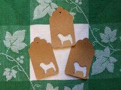 Die Cut Pug Tag by NatureCuts on Etsy