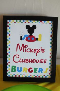 Mickey's Clubhouse Burgers (Food Idea) Josh's 3rd Mickey Mouse Clubhouse Celebration | CatchMyParty.com