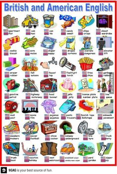 British and American english I use many of the British words already without knowing it.