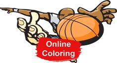 Free basketball theme coloring pages Sports Coloring Pages, Online Coloring Pages, Coloring Pages For Kids, Basketball Clipart, Basketball Art, Free Desktop Wallpaper, Color Activities, School Colors, Print Pictures