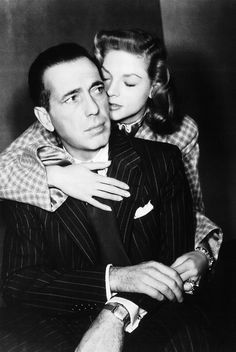 Humphrey Bogart and Lauren Bacall in a promotional photo for Dark Passage (1947)