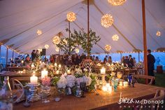 Photography: Brea McDonald and Jordan Moody | Venue: Kennebunk River Club | Catering: Kitchen Chicks | Tent: Sperry Tents | Wedding Planner: Lilybrooke Events | Floral Design: Flora Fauna | Lighting: The Event Light Pros