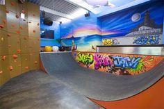 A NY home with a basement half pipe. WSJ photo by Amanda Switzer yahoohomes