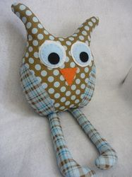 Owl Pillow with long legs
