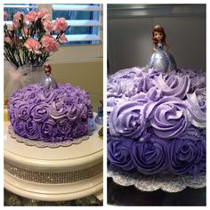 Sofia the first cake I made for my daughters 3rd Birthday party!