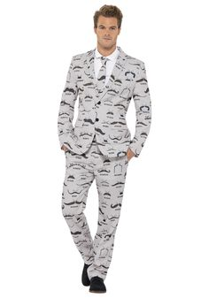 What's better than a mustache? A ton of mustaches! Wear this Men's Mustache Suit on your next date!