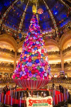 The Galeries Lafayette's Christmas tree... - TownandCountrymag.com