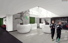 Legia Warszawa - Enel-Med clinic in Warsaw Municipal Stadium - concept design by Archimed Architecture