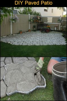Embark on a new and satisfying project with this DIY paved patio makeover! Fire Pit Wall, Fire Pit Decor, Gazebo With Fire Pit, Fire Pit Backyard, Big Backyard, Patio Furniture Makeover, Patio Makeover, Furniture Ideas, Fire Pit Lighting