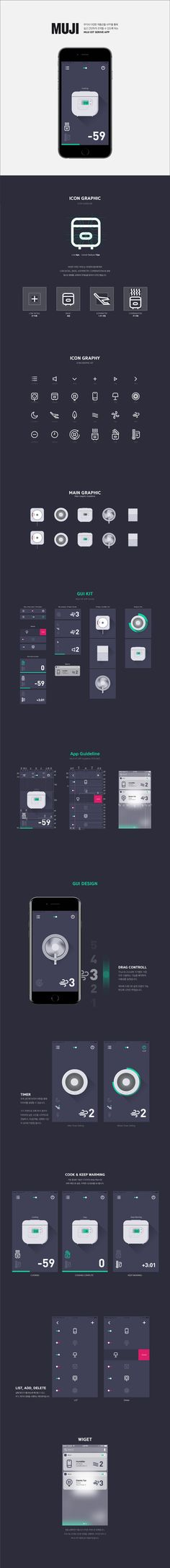 Kim, ki hyun   MUJI IOT APP GUI Concept   Visual Interface Design(2) 2017   Major in Digital Media Design │#hicoda │hicoda.hongik.ac.kr