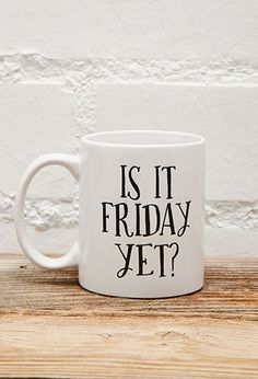 Tickled Teal Is It Friday Mug | FOREVER21 - 1049257244