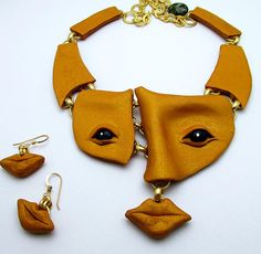 Runway and Statement inspired Polymer Clay Jewelry de Gloria Danvers                                                                                                                                                      More