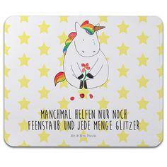 Mauspad Druck Einhorn Traurig aus Naturkautschuk  black - Das Original von Mr. & Mrs. Panda.  Ein wunderschönes Mouse Pad der Marke Mr. & Mrs. Panda. Alle Motive werden liebevoll gestaltet und in unserer Manufaktur in Norddeutschland per Hand auf die Mouse Pads aufgebracht.    Über unser Motiv Einhorn Traurig  Ooooh, ein trauriges Einhorn... Da hilft wohl nur noch jede Menge Glitzer! Das traurige Einhorn ist die beste Methode, um jemanden vom Liebeskummer zu befreien. Manchmal läuft es nicht…