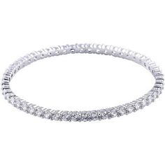 bb952037b Pave Crystal All-around Slip-on Bangle (White - White), Women's - Size: 8  Inch